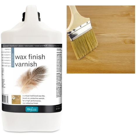 Polyvine - Wax Finish Varnish - Dead Flat - 4 LITRE