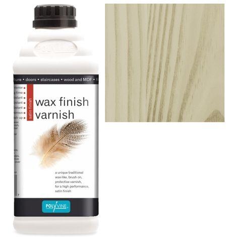 Polyvine - Wax Finish Varnish - Golden Pine - 1 LITRE
