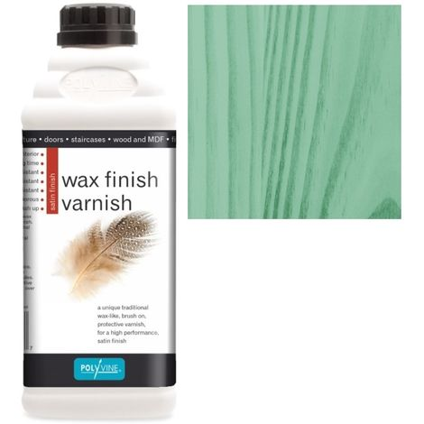 Polyvine - Wax Finish Varnish - Green - 500ML