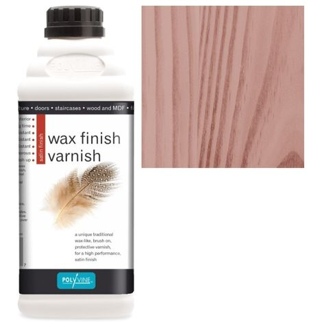 Polyvine - Wax Finish Varnish - Mahogany - 1 LITRE