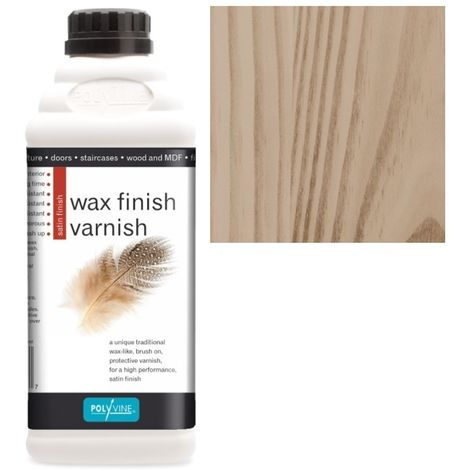 Polyvine - Wax Finish Varnish - Medium Oak - 500ML