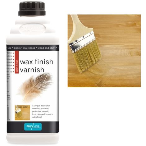 Polyvine - Wax Finish Varnish - Satin - 1 LITRE