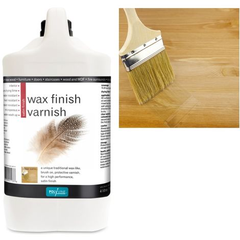 Polyvine - Wax Finish Varnish - Satin - 4 LITRE