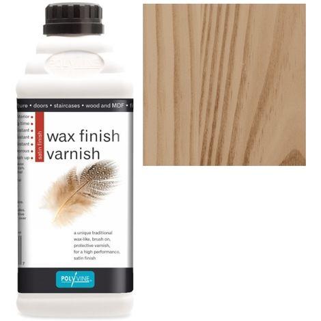 Polyvine - Wax Finish Varnish - Teak - 1 LITRE