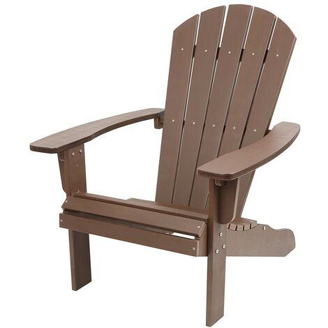 Polywood Adirondack Garden Chair Outdoor Armchair Lounger Patio Deck Seating