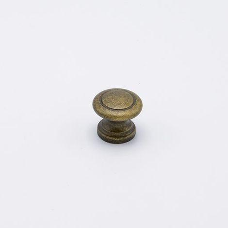 Pomello anticato tipo Small effetto bronzo diametro 32 mm x 27 mm profondità in Pvc