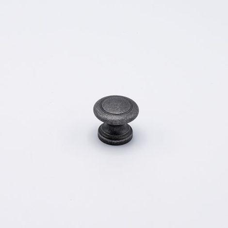 Pomello anticato tipo Small effetto ferro diametro 32 mm x 27 mm profondità in Pvc