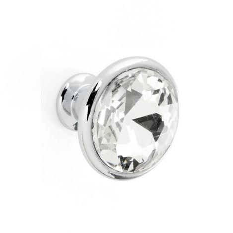 Pomello Bagno Diamante - Effetto Cromo