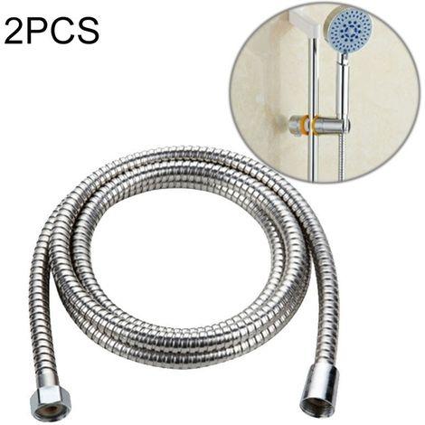 Pommeau de douche 2 tuyaux en acier inoxydable flexible de pomme de de tuyau de PCS 2m interface de noyau de cuivre de l'eau de