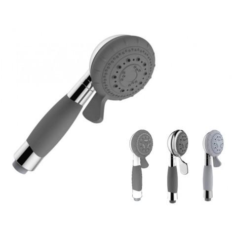 Pommeau de douche ergonomique 4 jets anticalcaire économie d'eau PMR