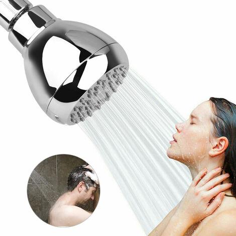 Pommeau de douche haute pression de 3 pouces - Meilleure augmentation de pression, Pommeau de douche de salle de bain Buse de fixation murale Pomme de douche fixe, Pomme de douche de salle de bain pour douches à faible débit - Chrome