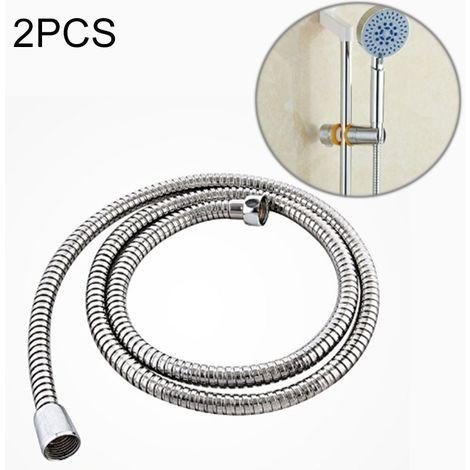 Pommeau de douche Tuyau de de flexible en acier inoxydable de 2 PCS 1.5m Interface de cuivre double interlock d'eau de bain anti