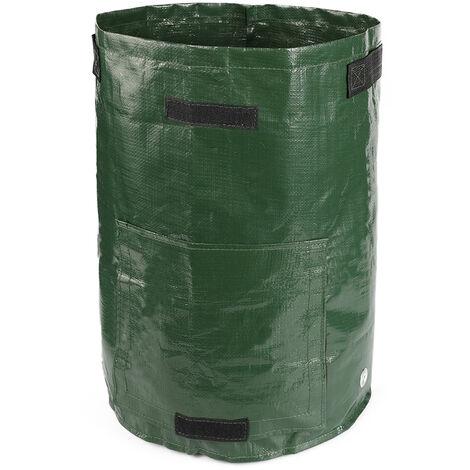 Pommes de terre les sacs de culture vegetale legumieres Seau avec poignees et fenetres 10 Gallon interieur exterieur Cache-pot, vert, 35cm x 50cm