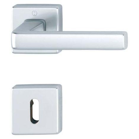 Pomo de puerta roseta 1124/843KV/ 843KVS,BB,F249 Alu chr.gl