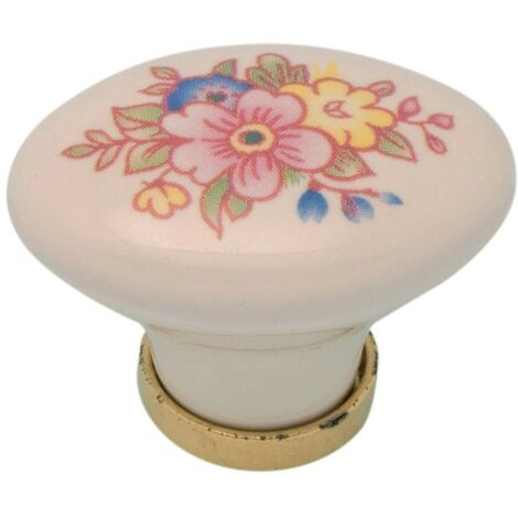 Pomolo pomello per mobili in ceramica 24 x 34 x 25h mm 25 pezzi art. F15