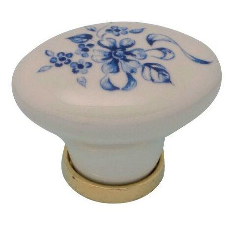 Pomolo pomello per mobili in ceramica 24 x 34 x 25h mm 25 pezzi art. F7