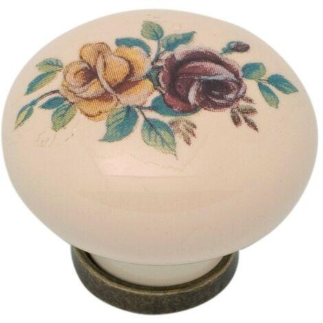 Pomolo pomello per mobili in ceramica 31 x 26h mm 25 pezzi art. F1