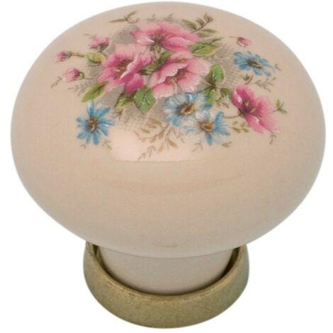 Pomolo pomello per mobili in ceramica 31 x 26h mm 25 pezzi art. F11
