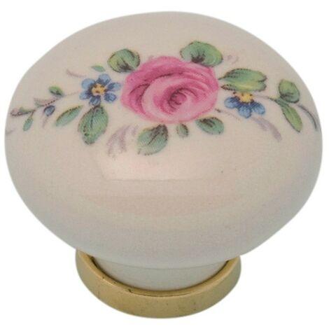 Pomolo pomello per mobili in ceramica 31 x 26h mm 25 pezzi art. F20