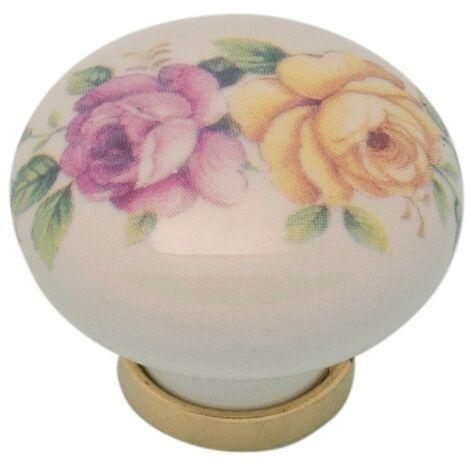 Pomolo pomello per mobili in ceramica 31 x 26h mm 25 pezzi art. F21