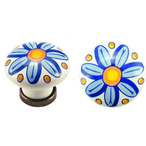 Pomolo pomello per mobili in ceramica 31 x 26h mm 25 pezzi art. F28