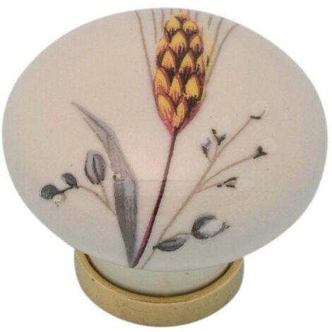 Pomolo pomello per mobili in ceramica 31 x 26h mm 25 pezzi art. F4