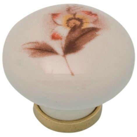 Pomolo pomello per mobili in ceramica 31 x 26h mm 25 pezzi art. F5
