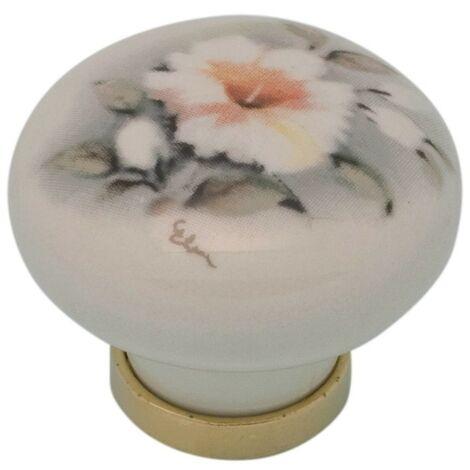 Pomolo pomello per mobili in ceramica 31 x 26h mm 25 pezzi art. F6