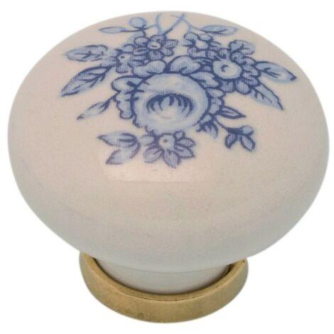 Pomolo pomello per mobili in ceramica 31 x 26h mm 25 pezzi art. F8