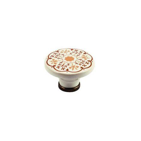 Pomolo pomello per mobili in porcellana 44 x 30h mm 4 pezzi art. P48