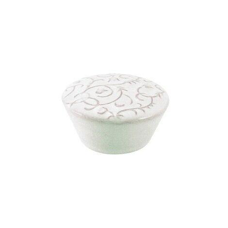 Pomolo pomello per mobili in porcellana 49 x 28h mm 4 pezzi art. P36