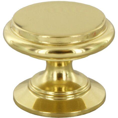 Pomolo pomello per mobili oro lucido 25 mm 25 pezzi art. P2174.01 Cafim