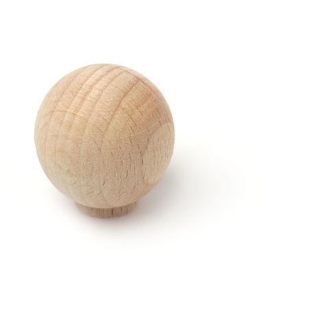 Pomolo stile classico, Faggio, Faggio Grezzo, 30 mm di diametro. Marchio REI