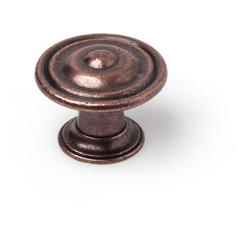 Pomolo stile classico, Zama, Bronzo Antico, 30 mm di diametro. Marchio REI