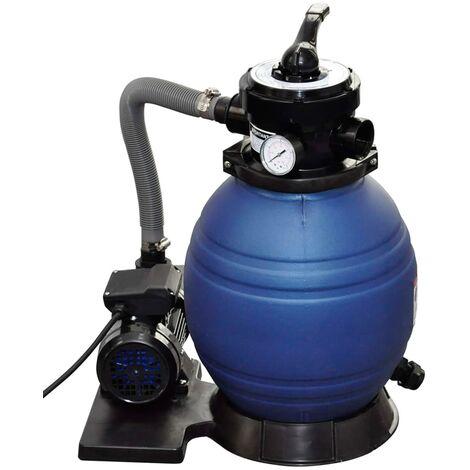 Pompa con filtro a sabbia 400 w 11000 l h for Pompa x laghetto con filtro