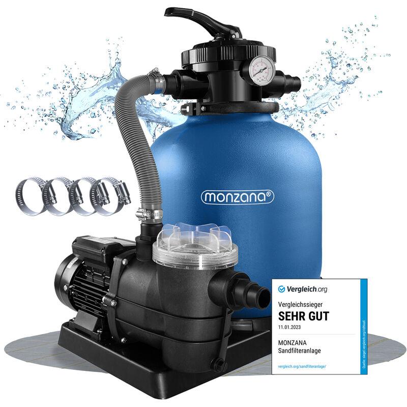 Deuba Pompa Filtro Piscina con Prefiltro portata 10.200 l/h Filtro a Sabbia Pompa Filtro Depuratore Sabbi