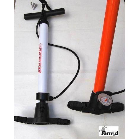 Mano pompa ad aria con manometro bicicletta pompa STAND Pompa ad aria per auto