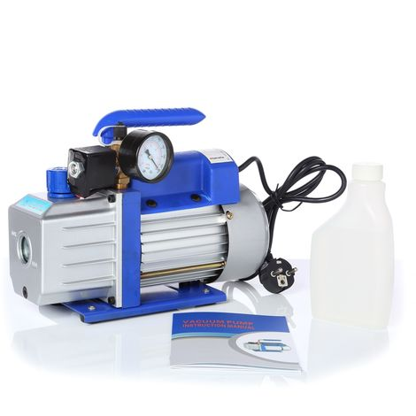 pompa per vuoto 71L/min con comparatore a manometro pompa per il condizionamento dell'aria in alluminio alloggiamento pompa per il condizionamento dell'aria modello Industrial Handle Air
