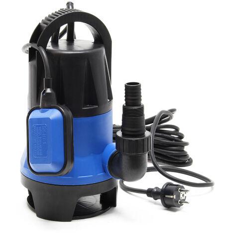 Pompe pour eaux usées 750W 12500l/h Pompe submersible Jardin Puits Drainage Purge Évacuation