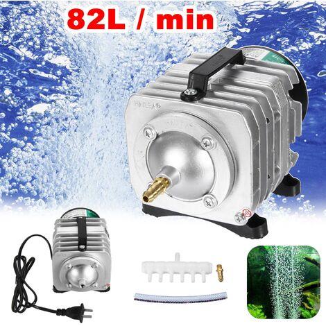 Pompe à air électromagnétique 55W Oxygène Aquarium Fish Koi Pond Compressor Hydroponic