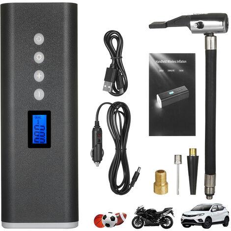 Pompe a air sans fil Pompe a air de secours multifonctionnelle Feux de secours rouges et bleus clignotants avec fonction de charge inversee USB
