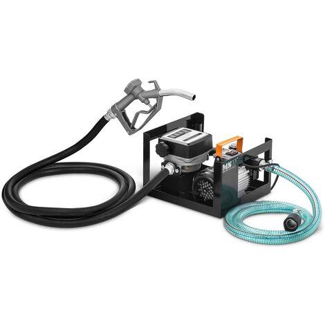 Pompe à Carburant Diesel Gasoil Huile Électrique Amorçage Auto Compteur 60 l/min