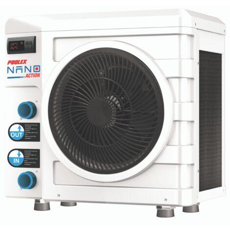 Pompe à chaleur de piscine POOLEX Nano Action 3 kW pour des bassins jusqu'à 21m3 - White