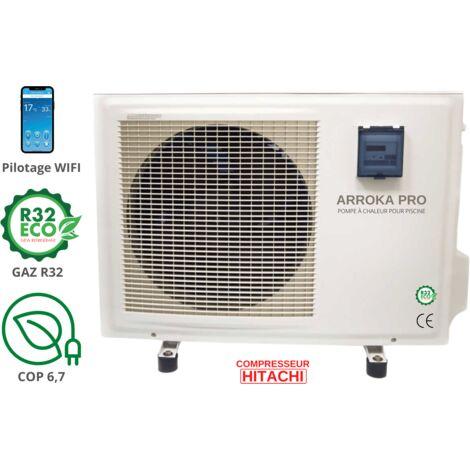 Pompe à chaleur piscine - jusqu'à 95 m3, R32, COP 6.78, réversible, wifi, modèle Arroka Pro 90 de ByPiscine