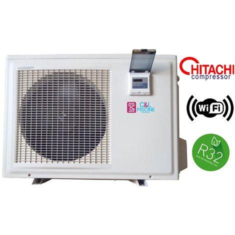 Pompe à chaleur piscine NRJ-12 12,3kW R32 Wifi / 95m3