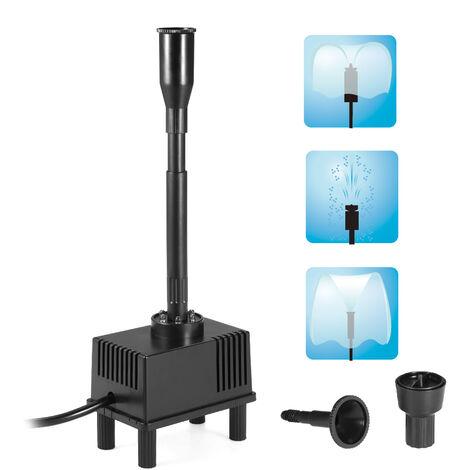 Pompe a eau 110V AC avec 6 LED d'eau de bassin a poissons de jardin petite fontaine PQ22-110V prise US