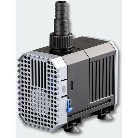 Pompe à eau de bassin filtre filtration cours d'eau eco aquarium petit étang eco 1500l/h 25W - Noir