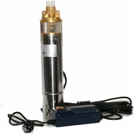 Pompe à eau de puits profond électrique submersibles bassins de jardin de forage 750 watts
