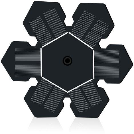 """Pompe à eau solaire 2.5W solar7.5"""" fontaine de piscine d'eau solaire Pompe à eau solaire, fontaine d'eau avec fonction d'eau extérieure bain d'oiseaux, fontaine de jardin, petite piscine et circulation d'eau"""