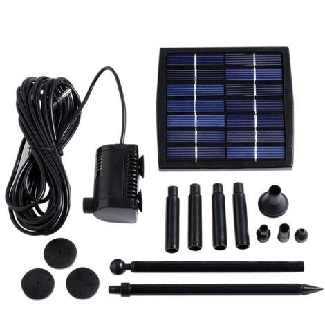 Pompe à eau solaire pour fontaine, bassin ou jardin... avec câble de ...